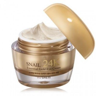 Корейский крем для лица улиточный с золотом SAEM Snail Essential EX 24K Gold Cream