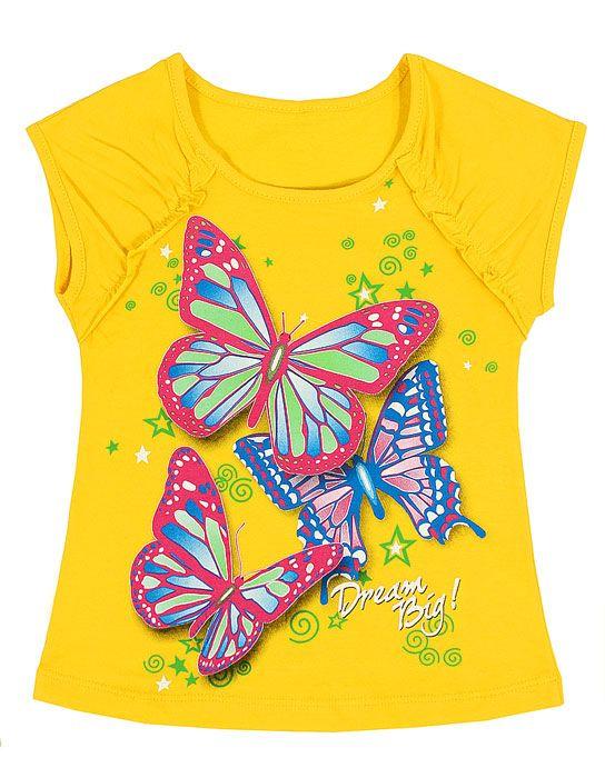 Блуза для девочки Три бабочки
