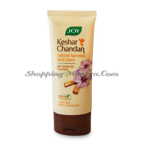Осветляющая маска для лица Шафран&Сандал Джой | Joy Cosmetics Fairness Face Pack Kesar Chandan