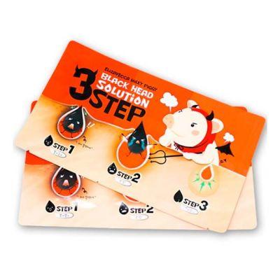 Корейский набор для удаления черных точек ELIZAVECCA Milky Piggy Black Head Solution 3 Step