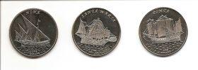 Знаменитые Парусники  (Корабли Колумба ) Набор монет 1 доллар Острова Гилберта 2016 (5 серия )