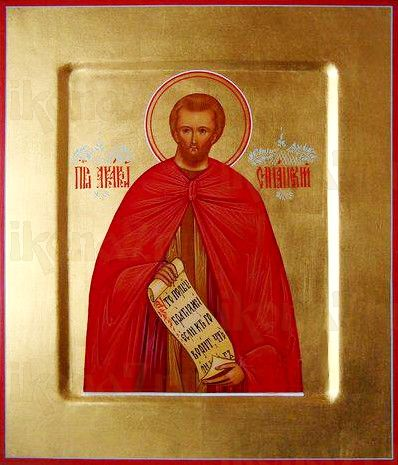 Акакий Синайский (рукописная икона)