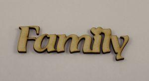 "Заготовка слово ""Family"", фанера 3 мм, 1уп=5 шт"