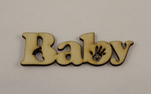 "Заготовка слово ""Baby"", фанера 3 мм, 1уп=5 шт"