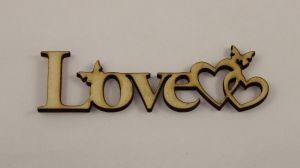 "Заготовка слово ""Love"", фанера 3 мм, 1уп=5 шт"