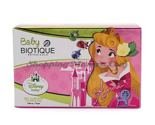 Детское питательное мыло с миндальным маслом Биотик Принцесса Аврора | Biotique Disney Princess Aurora Bio Almond Nourishing Baby Soap