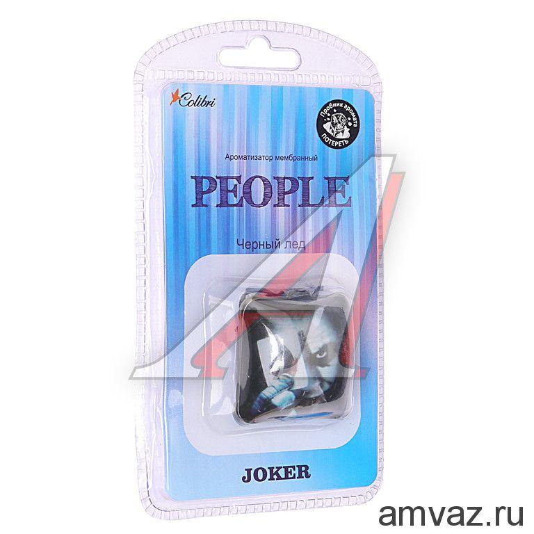 """Ароматизатор подвесной мембранный """"People Joker"""" Черный лед"""