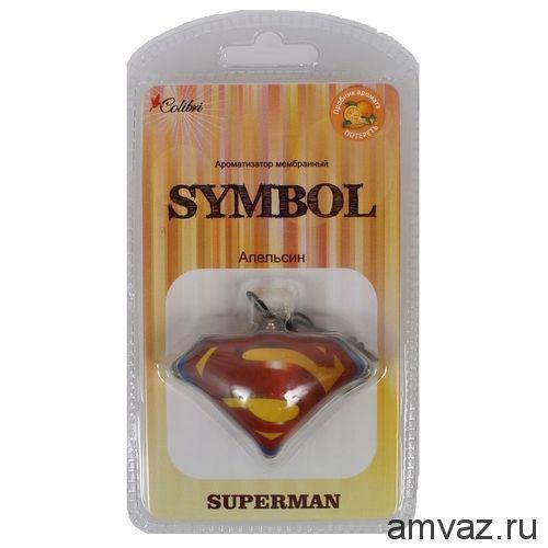 """Ароматизатор подвесной мембранный """"Symbol Superman"""" Апельсин"""