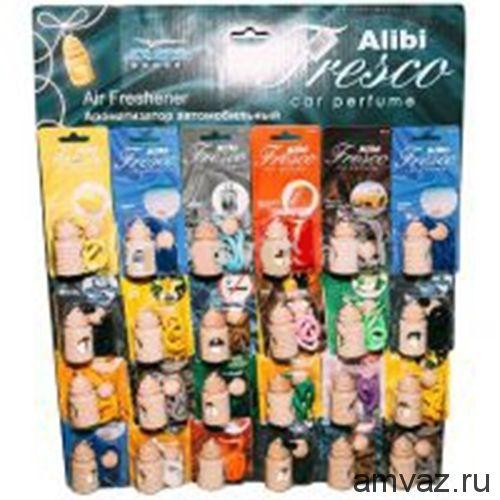 """Ароматизатор подвесной """"Alibi Fresco"""" панно 24шт 16SKU"""