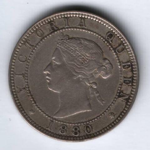1 пенни 1880 г. XF Ямайка