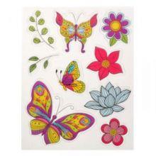 """Набор штампов для раскрашивания """"Бабочки и цветы"""", 14 х18 см"""