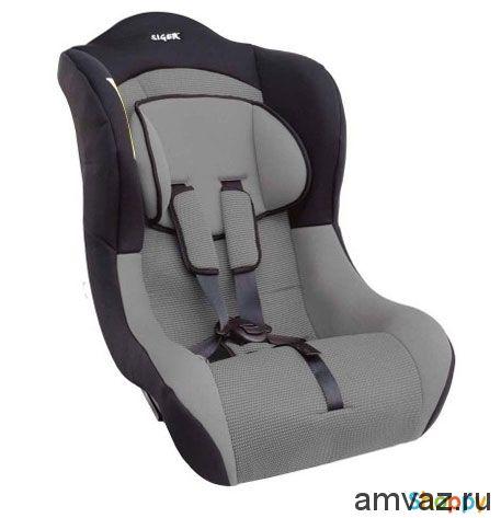 """Детское автомобильное кресло SIGER """"Тотем"""" серый, 0-4 лет, 0-18 кг, группа 0+/1"""