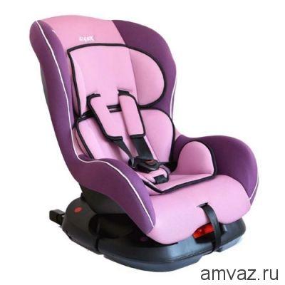 """Детское автомобильное кресло SIGER """"Наутилус ISOFIX"""" фиолетовый, 0-4 лет, 0-18 кг, группа 0+/1"""