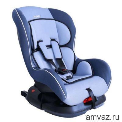 """Детское автомобильное кресло SIGER """"Наутилус"""" голубой, 0-4 лет, 0-18 кг, группа 0+/1"""