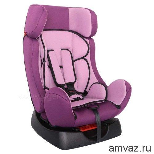 """Детское автомобильное кресло SIGER """"Диона"""" фиолетовый, 0-7 лет, 0-25 кг, группа 0+/1/2"""