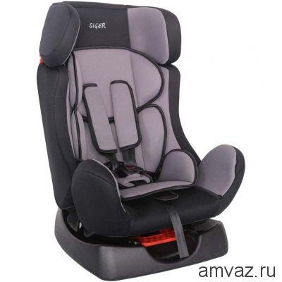 """Детское автомобильное кресло SIGER """"Диона"""" серый, 0-7 лет, 0-25 кг, группа 0+/1/2"""