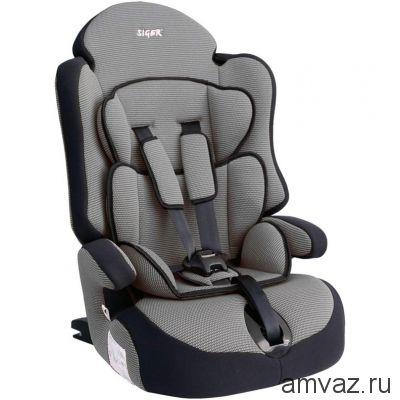 """Детское автомобильное кресло SIGER """"Прайм ISOFIX"""" серый, 1-12 лет, 9-36 кг, группа 1/2/3"""