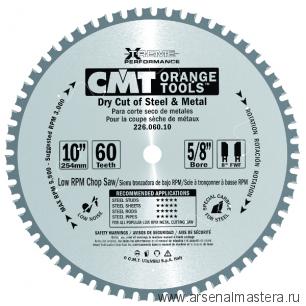 SALE CMT 226.060.12 Диск пильный для пиления стали, железа (сухой рез) 305x25,4x2,2/1,8 0 8 FWF Z60