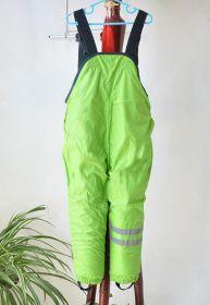 Детские зимние брюки комбинезон салатовые