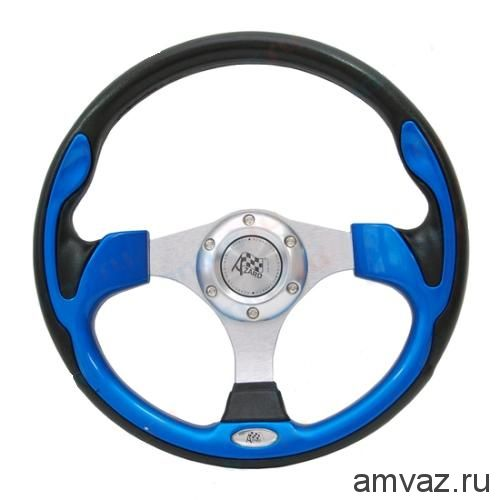 Руль спортивный Azard арт.4156А БОЛТ /СИНИЙ/