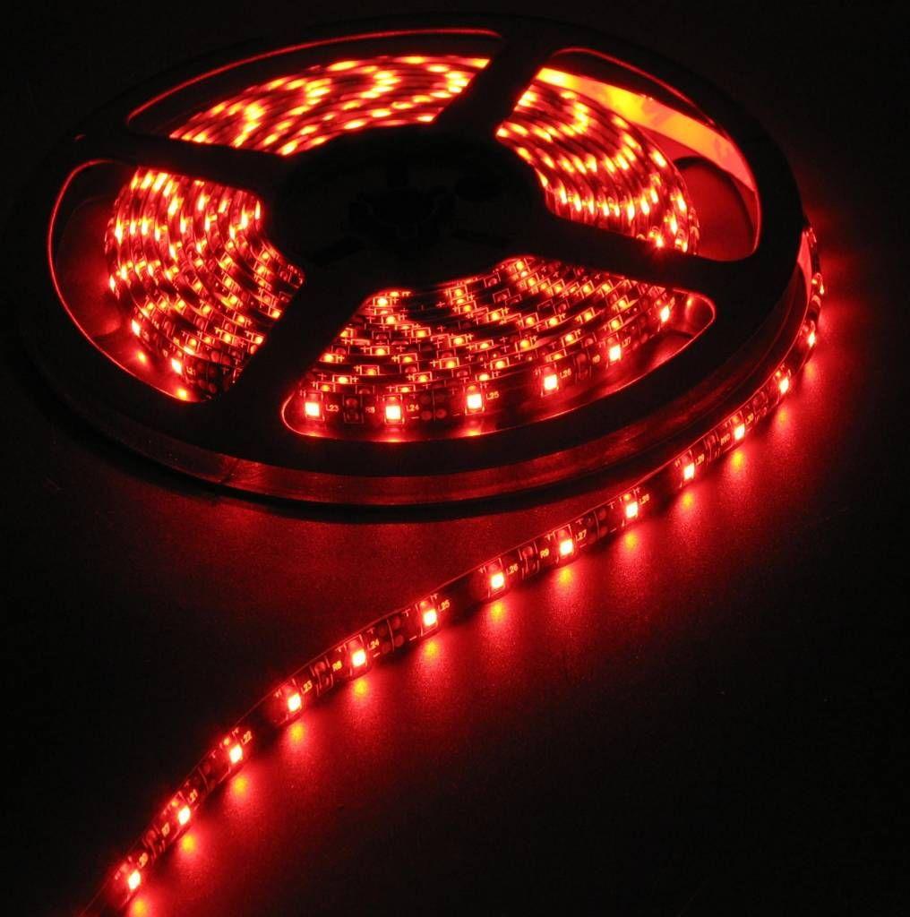 Светодиодная лента на светодиодах SMD5050R красная 60LED на метр в силиконе