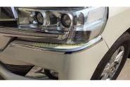 Хромированные молдинги на передний бампер для Toyota Land Cruiser 200 2015