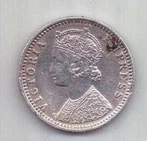 1/4 рупии 1892 г. Британская Индия