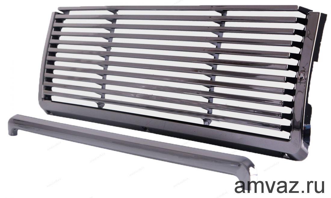 Тюнинг решетка радиатора AZARD Линии ВАЗ 2107 Хром