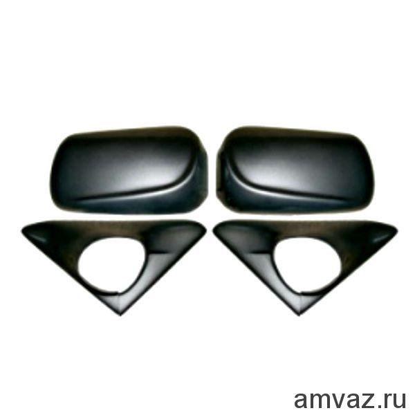Накладки на штатные боковые зеркала ВАЗ 2110-12 /МЛЕЧНЫЙ ПУТЬ/ /к-т 2 шт./