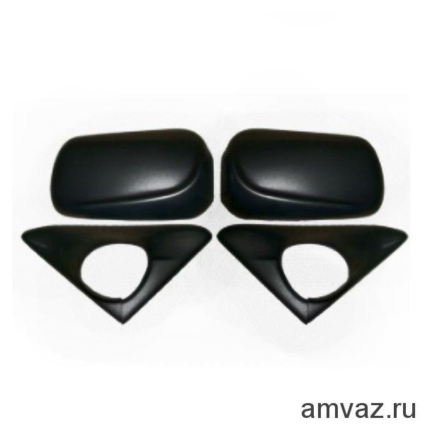 Накладки на штатные боковые зеркала ВАЗ 2110-12 /НЕКРАШ./ /к-т 2 шт./
