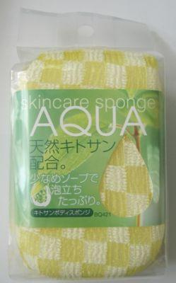 Мочалка-спонж AQUA AISEN с хитозаном BQ421, 8x14x5 см