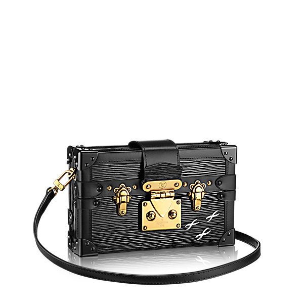 Сумка LOUIS VUITTON PETITE MALLE BLACK EPI ЧЕРНАЯ