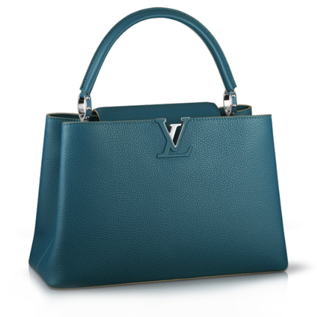 Сумка Louis Vuitton Capucines MM Bleu Canard