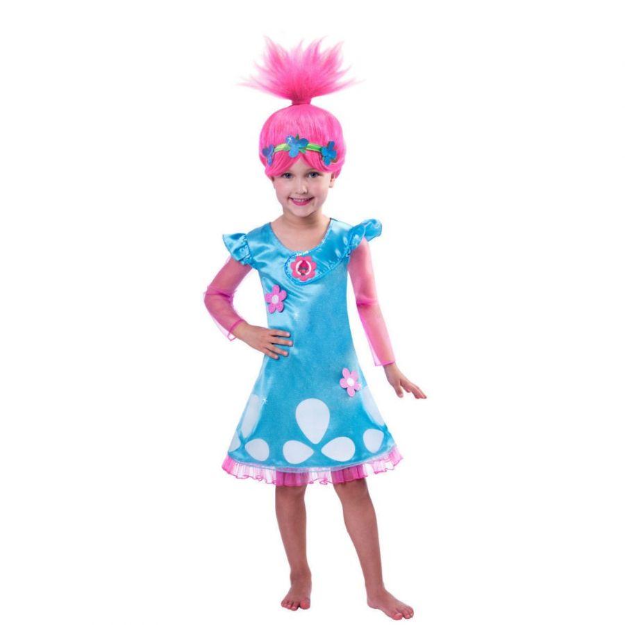 Платье костюм тролля Розочка с париком