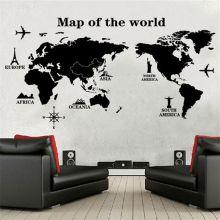 """Декоративная наклейка на стену """"Карта мира"""""""