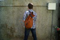 BUFALO BP03  CAMEL рыжий кожаный рюкзак-мешок
