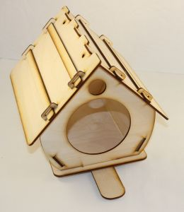 """Заготовка """"Кормушка для птиц"""", 25х18х21 см, фанера 3 мм, 1 уп=3шт"""