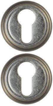 Накладка под цилиндр ET03AS-состаренная серебро