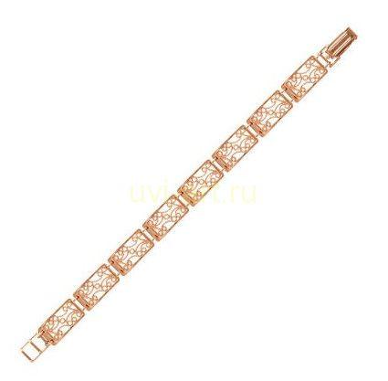 Позолоченный ажурный браслет (арт. 788024)