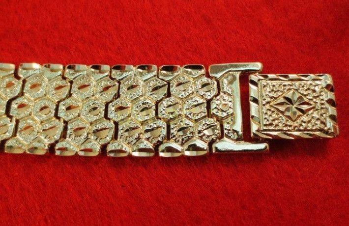 Позолоченный браслет с алмазной гравировкой (арт. 16012332)