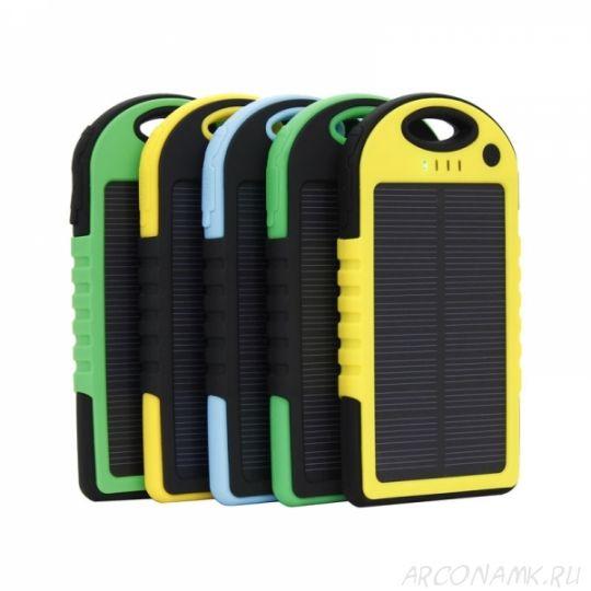 Power Bank на солнечных батареях Solar Charger 5000mah