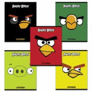 """Тетрадь 48 л., """"Хатбер. Angry Birds"""", клетка, выборочный лак"""