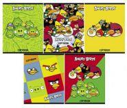"Тетрадь 48 л., серия ""Angry Birds"" А5 ф, на гребне (арт. 12783)"