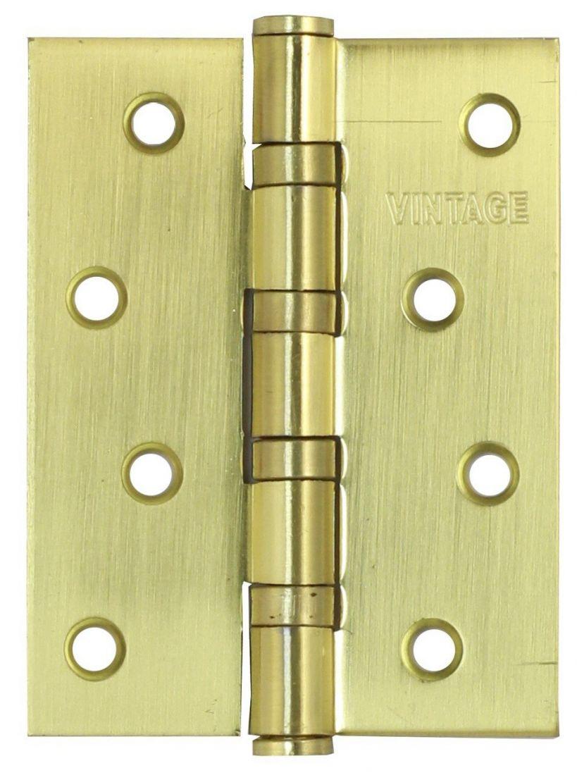 Петля универсальная врезная B4-SB 100.75.3 матовое золото
