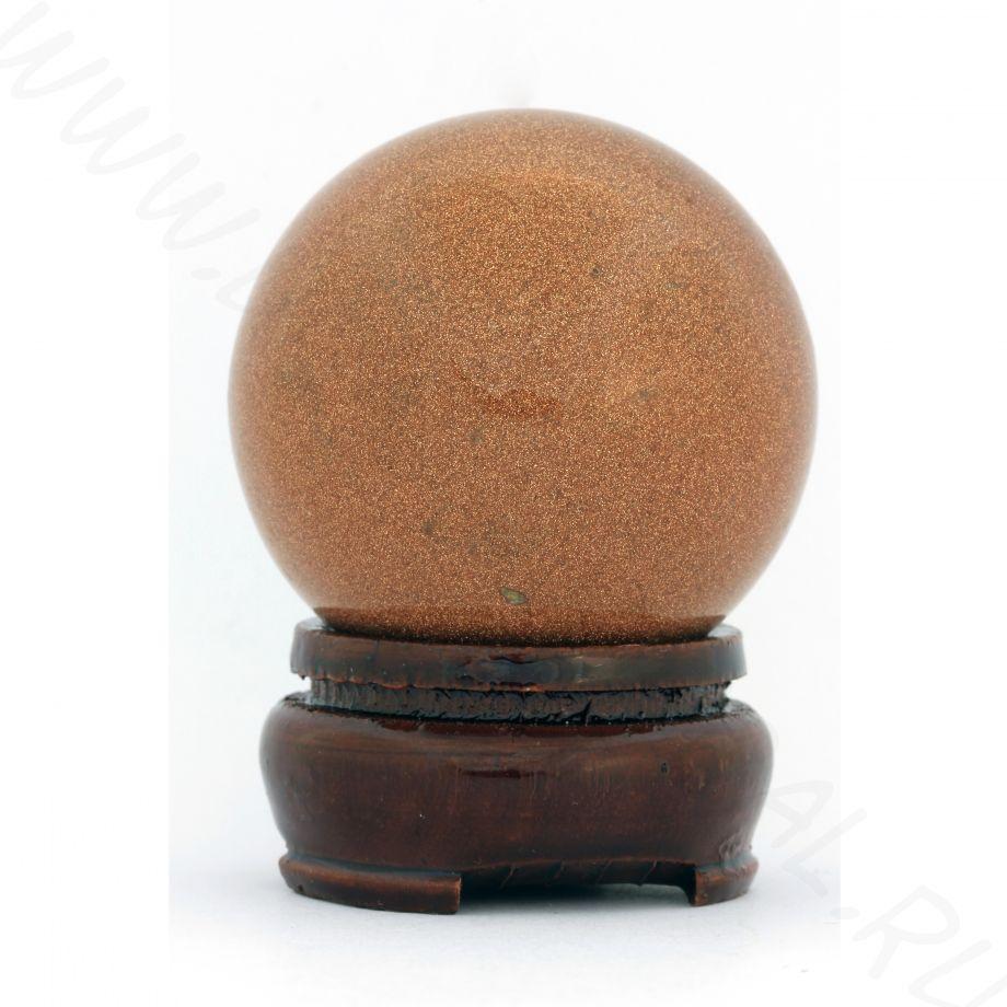 Шар (40 мм)  - Авантюрин коричневый