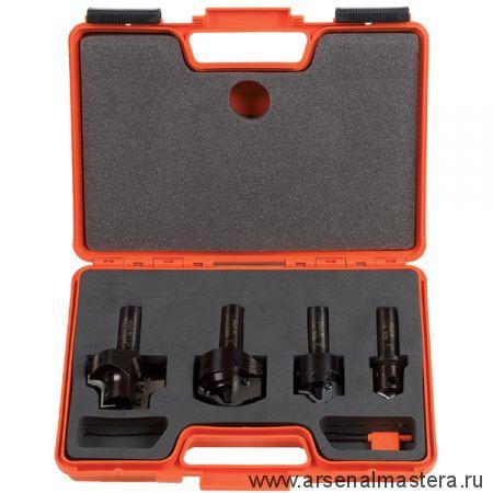 CMT 615.004.01 Комплект 4 профильных фрез, смен.ножи HM в кейсе Z2 S20 (Профиль 1)