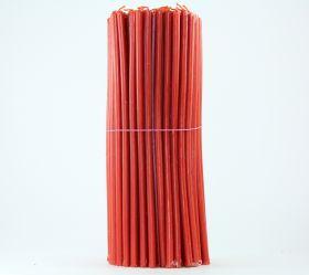 Свечи церковные восковые (Красные) № 30, 2 кг. Длина 29 см, диаметр 8,5 мм. 150 штук/пачка