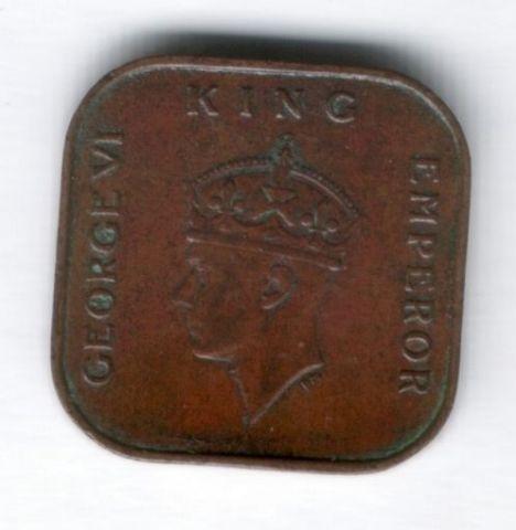 1 цент 1941 г. редкий год Малайя