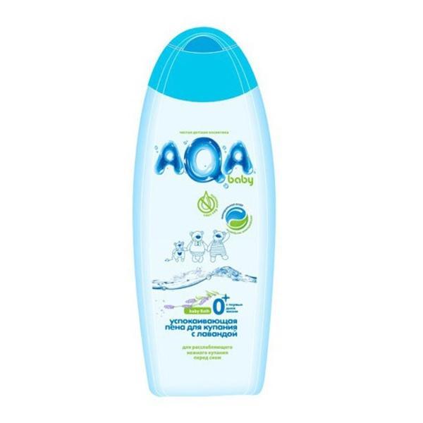 AQA baby Пена для купания успокаивающая с лавандой, 500 мл.