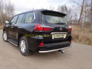 Защита заднего бампера 60 мм для Lexus LX 2015-